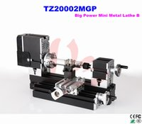 big lathe machine - Powerful All Metal Heighten Mini Lathe machine TZ20002MGP Big Power metal lathe for didactical DIY wood working
