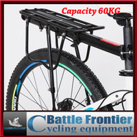 bicycle seatpost rack - 60kg capacity bike luggage carrier bicycle rear rack cycling stander seatpost rack back shelves with flanks wings for journey
