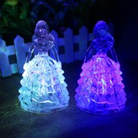 baby girl night lamp - 24pcs Romantic Acrylic Crystal Princess Style Night Lights Multicolor LED Flashing Lamps Baby Girls Favors HX471