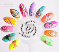 nail studs - HOT Fashion MM size beautiful Candy Color d nail art metal studs decals stickers
