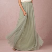 "Cheap Mint Soft Tulle Wedding Petticoats Skirt 47"" Long Bridal Accessories Custom-made Tulle Skirt Crinoline for Girls Wedding Dress Slip 2015"