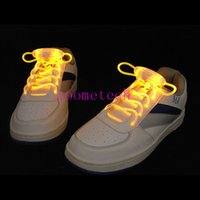 silicone shoes - Cheap light up LED flashing silicone rubber shoelaces fiber optic shoe lace shoestring luminous shoelaces with high quality