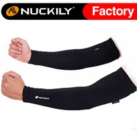 Wholesale Nuckily Red outdoors cycling coolmax anti uv protection bicycle arm sleeves Hot selling sport arm warmer