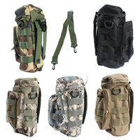 Wholesale Water Bottle Pouch Outdoor Pockets Small Zipper Water Bottle Bag Camouflage Military Hydration Packs Nylon Water Bottle Pouch