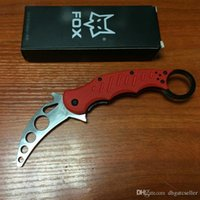 Cheap 2015 Top quality Fox Claw Karambit Training knife G10 Handle Folding blade Outdoor gear EDC Pocket hunting knife camping knife knives 2pcs