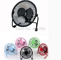 Wholesale USB fan big wind mute fan rotation inches of wrought aluminum mini dormitory desktop small fan