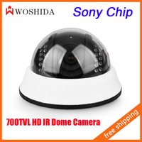 "Cheap IR HD Dome Camera Night Vision 1 3"" SONY CCD CCTV Security Camera 700TVL Indoor"