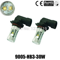 Wholesale 30W HB3 H4 H7 H8 H11 H16 HB4 P13W CREE Fog Light Driving Headlight DRL Bulb white blue green yellow red