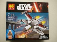 b type star - JIang A B C D four types Star Wars X Wing block set toys baby action figures made in ABS plastic