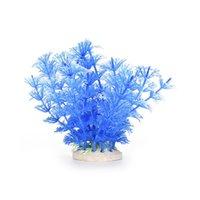 Wholesale 1 Pc Aquarium Ornament Decoration Plastic Grass Artificial Water Plant For Fish Tank