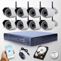 al por mayor 3tb sistema de seguridad-Sistema de cámaras P2P 8CH NVR Video Vigilancia 3TB HDD de Onvif H.264 Seguridad para el Hogar con 1080P Cámara IP exterior