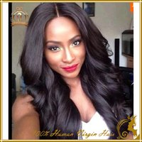 malaysian lace wigs - 2016 natural Body wave short human hair wigs fo full lace wigs and lace front wigs with baby hair elastic hair ties