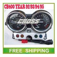 Wholesale CB400 odometer year motorcycle motor bike speedometer led speedo meter instrument