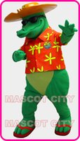 Mascot Costumes bad dress - COOL Anime cosply Costumes Bad Alligator Crocodile Mascot Costume for School College Advertising Theme Mascotte Fancy Dress Kits