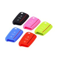 Wholesale 2015 New Car Accessories auto Silicone Key Case Shell Key Bag Cover buttons For Volkswagen VW Golf Silicone Key Portect Case