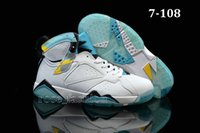 Wholesale Cheap JVII Basketball Shoes RETRO VII WHITE TURQUOISE BLACK ICE BLUE Basketball Boots Men Athletics Sports Shoes Sneaker