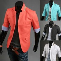 Wholesale New style Men Fashion Slim fit Casual Blazers Coat M L XL XXL X26