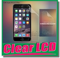 Wholesale Clear LCD Screen Protector Guard Film With Cloth For iPhone Plus S S iPhone6 Iphone5 Galaxy S5 i9600 S4 mini Note