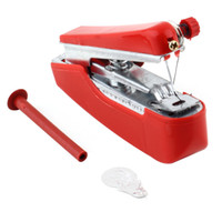 Wholesale Hot Selling Useful Portable needlework Cordless Mini Hand Held Clothes Fabrics Sewing Machine