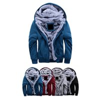 Wholesale S5Q Mens Winter Cardigan Sweater Wool Lining Hoodie Knitted Jacket Casual Coat AAAEIN