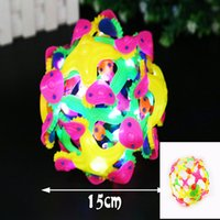 Cheap flashing Magic Balls products Geodesic Expandable Rainbow Colored Sphere Mini Sphere Toy development educational Baby toys Glow Dragon Ball