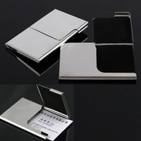 Wholesale Creative Semi open Business Driver ID Credit Card Holder Protector Case Metal Stainless Steel Pocket Box Case