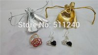 Wholesale 10 Jewellery Jewelry Earrings Neacklace Hand Chains Pouches Gift Bags golden