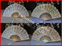 bamboo handicrafts - Bamboo Frame Wedding Lace Hand Fan Accessories Bridal Hand fan Chinese handicrafts