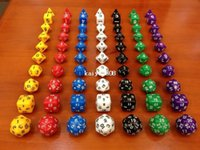Wholesale Dungeons and Dragons Game MM D4 D6 D8 D10 D12 D20 D24 D30 Crystal Dice for Game dice set with bag one set