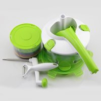 Wholesale Multifunction Vegetable Slicer Salad Maker Durable Kitchen Tool Cheap Price Green Roto Champ ABS Material SS Blade JC A9C