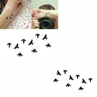 Wholesale Waterproof Body Art temporary tattoo flash Tattoo Sticker Birds Pattern Temporary Tattooing Paper