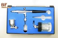 airbrush car painting - set Dual Action Airbrush air brush Kit Spray Gun Makeup Tool dia mm cc amp cc cup for body car Paint Tattoo