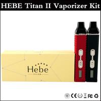 Single vapor pens - Top quality Titan kit HEBE Cloud vapor pen Dry herbal Vaporizer pen mAh Battery LCD Display Titan II Vaporizer kit via DHL