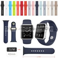 Wholesale 1 Original Design Silicone Band With Connector Adapter Clip For Apple Watch M MM Silicon Strap For iPhone iWatch Sport Buckle Bracelet