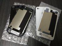 Partie de remplacement arrière de couvercle de porte de porte de batterie de retour de qualité pour l'iphone 4 4G 4S DHL libre