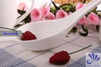 big ladle - Hot selling Pure White Spoon High Quality Bone China Big Soup Ladle