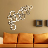 artistic wall decals - DIY Silver Mirror Effect Wall Sticker Artistic Round Decal Wall Home Decorations Hot New dandys