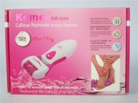 Wholesale MOQ100PCS KEMEI KM Hot Sellings New Brand Kemei Pedi Electric Foot File with the retail box DHL free