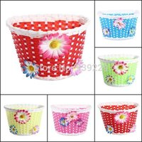 Wholesale 3Girls Bike Bicycle Car Cycle Front Basket Flowery Shopping Stabilizers Children Kids cm X cm X cm A5