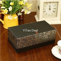 antique wood tray - Euro leather wood Silver Antique Pattern PU Leather Pattern Leather lovely holder tray pumping fashion tissue box