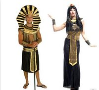 Wholesale The Holloween Party Theme Costume Apparel Cosplay Egypt Pharaoh And Cleopatra Queen Set For Party Festival