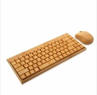 Wholesale HOT Bamboo Wireless Keyboard Mouse Combos for Universal Tablets Computers
