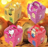 Wholesale 10pcs new Portable cartoon Christmas Apple box Fold the apple box fashion frozen Gift box