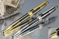 ball high school - MB High Quality Office School Stationery Black and Golden Silver Stripe and Trim Roller Ball Pen