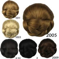 Wholesale Hair Fashion Heat Resistant Chignon Bun Hair Piece Hair Bun tray Wig Scrunchie Bun