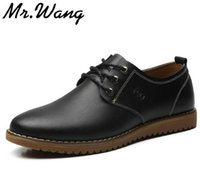 beading business - Brand Retro vintage casual leather shoes men Genuine Leather business dress shoes Oxfords for men big size EUR S