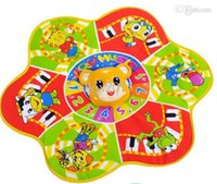 baby bear games - New baby play mat music tapete infantil esteira for kids tapis brinquedos bear music game pad baby activity gym Christmas gift