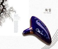 Wholesale Ocarina Musical Instruments Legend of Zelda Ceramic Material Top Quality Holes