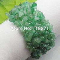 Precio de Chip stone bracelet-Envío al por mayor-libre salta granos Aventurina piedra pulsera del estiramiento 7