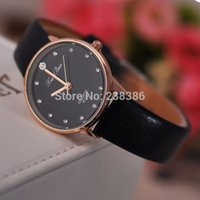 auto set clock - TGJW174 Classic black Women Wristwatches Imitation Diamond Setting Clocks Lady Dress Watches